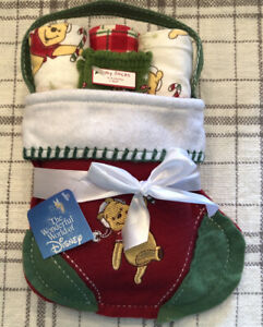 Disney Baby Winnie The POOH Flannel Receiving Blankets Christmas Stocking