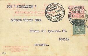 "MEXICO - COLOMBIA - SCADTA - STATIONARY CARD ""DE MEXICO"" - MONTERREY - 1930 RRR"