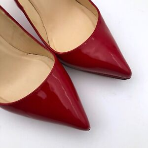 Christian Louboutin Women Red Leather PIGALLE PLATO 120 Pump Heel Shoe Size 37.5