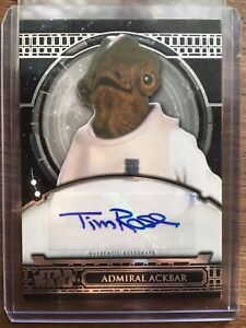 Star Wars 40th Anniversary Autograph Card [] Tim Rose as Admiral Ackbar Auto