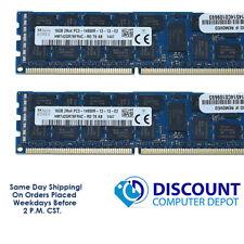 SK Hynix 32GB (2x 16GB) 2Rx4 PC3-14900R DDR3 Server RAM Memory 2PACK