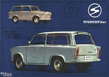 Trabant 601 Universal ab 1969 noch stärker 3 PS mehr Zwickau Prospekt DDR 1968 b