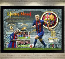 Lional Messi Barcelona signed autograph A gift Football Memorabilia With frame