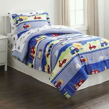 Piper Vehicles Cars Planes MORE Twin Comforter Sheets Sham 5 Pc NEW!