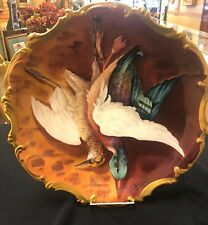 Limoge Charger with Beautiful Hand Painted Birds