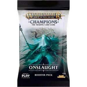 WARHAMMER AOS: CHAMPIONS Onslaught Booster Pack BNIP