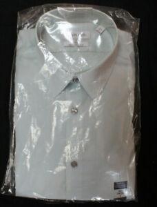 NWT Calvin Klein Steel +  Slim Fit Color Mint L 16 1/2 x 34/35 100% Cotton