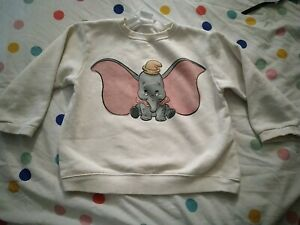 Zara Girls Disney Dumbo Jumper sweater top age 3-4 4-5 years
