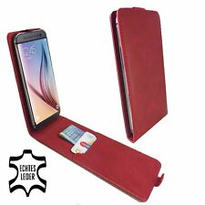 Handy Hülle | DOOGEE X30L | Flip | Echt Leder | Flip L Leder Rot