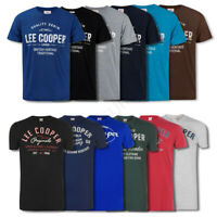 Mens T Shirts Lee Cooper Print Top Short Sleeve Tee Crew M L XL XXL Medium Large