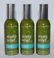 3 BATH & BODY WORKS STRESS RELIEF EUCALYPTUS SPEARMINT ROOM SPRAY MIST PERFUME