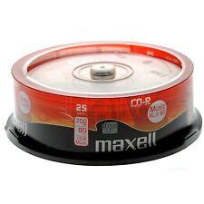 25 Maxell CD-R80 mins Music XL-II Digital Audio Recoding disc CDR80 cdr80