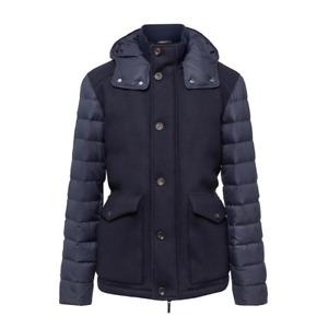Men's Hackett London Mayfair Wool Knitted Mix Coat Jacket in Navy
