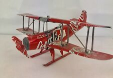 Aluminum soda can handcrafted airplane/Coca-Cola