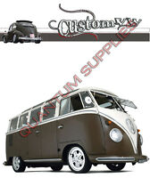 BROWN VW CAMPER T SHIRT CUSTOM MENS WOMENS KIDS TOP S M L XL XXL XXXL 4XL 5XL