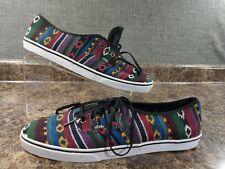 New VANS Canvas Multicolor SOUTH WEST Classic Lace-up Shoes Mens 10 TB9C