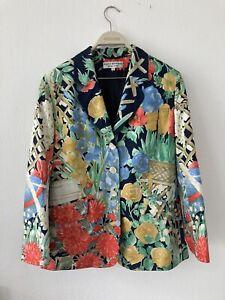 BARBARA KESSELS München elegante Jacke Blazer Gr.44 100 % Seide Silk fashion nw