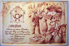 Beruf Post Postbote Blechschild Schild Blech Metall Metal Tin Sign 20 x 30 cm