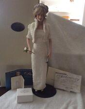 Franklin Comme neuf porcelaine portrait poupée de Diana, Princess of Wales-box, COA etc