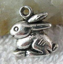 25pcs Tibetan Silver Rabbit Charms T10195