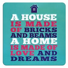 TIN MAGNET - A HOUSE IS MADE OF...