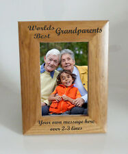 Worlds Best Grandparents 4 x 6 Wooden Photo Frame   Personalise this frame  Free