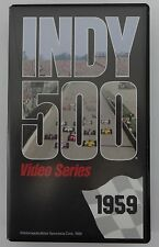 1959 Indianapolis 500 VHS Tape Rodger Ward Leader Card 500 Roadster Watson Offy