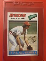 Pete Rose 1977 Topps Baseball Card Cincinnati Reds Card # 450