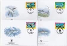WWF 4 x FDC Tokelau 2002 - Vissen Voshaai / Fish Shark (064)