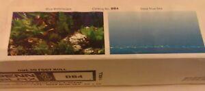 "Penn Plax Blue Waterscape / Deep Blue Sea 19"" x 50' DB4 Aquarium Background NEW"