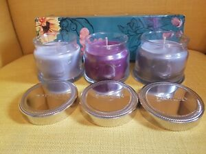 Partylite Scents OF The Season 3 x 1 wick Jar Candles Gift Set - GORGEOUS