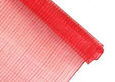 Stiffened Windowpane Sinamay Millinery Fabric - Red - 1 Meter x 90cm