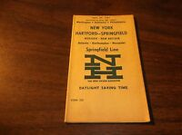 MAY 1961 NH NEW HAVEN NYNH&H SPRINGFIELD LINE PUBLIC TIMETABLE FORM 225