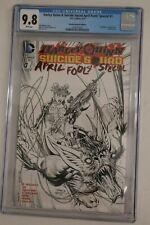 HARLEY QUINN SUICIDE SQUAD APRIL FOOLS #1 1:10 SKETCH VARIANT DC COMICS CGC 9.8