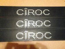 CIROC Rubber Spill Rail Beer Bar Mat Runner 21 X 3 1/2 NEW BLACK LOT OF 2