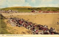 WOOLACOMBE SANDS AND THE DOWNS DEVON UK PHOTO POSTCARD c1950