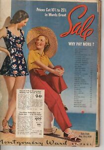 1938 Montgomery Ward's Summer Sale Catalog- Bicycles, lawnmowers, Soap box derby