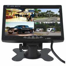 """MONITOR LCD 7"""" 4 INGRESSI AV HD AUTO -CAMPER DVR TELECOMANDO O VIDEOSORVEGLIANZA"""