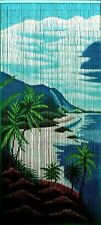 Bamboo Bead Curtain Tropical Room Divider Water Clifts Wall Door Hanging Panel