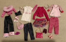 Barbie Doll Fashion Clothes lot Denim accessories Glasses Purse Shoes Outfits