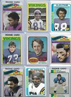 Minnesota Vikings All-Time Greats Lot of (40) w/ Rookies Foreman Tarkenton White