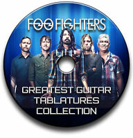 118x FOO FIGHTERS HEAVY ROCK GUITAR TAB TABLATURE SONG BOOK TUITION SOFTWARE CD