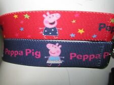NEW 2 PACK KIDS BELTS PEPPA PIG 6-8 YEARS RED MIX STRETCH MARKS & SPENCER