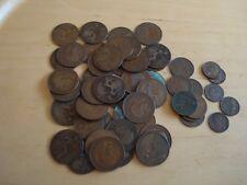 King George V Cuivre Pièces - 40 X 1D, 7 X 1/2D et 5 x Liards peser sur 420 g