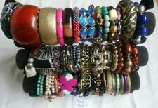 Joblot Beaded Bracelets bangles Resale Carboots Recycling  bead harvest metal
