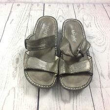 Alegria By PG Lite Womens Slides Size 37 7 7.5 Kar-204 Metallic Fun Shoes Summer