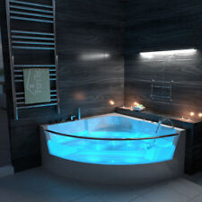 Whirlpool Bath 15 Jacuzzi Massage Jets Shower Spa Corner Rectangle Bathtub 6133m