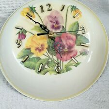asis vintage cute pan shape floral Kitchen Wall Clock  ,clock works