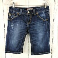 Womens MEK DNM New Oaxaca Bermuda Shorts 26 Denim Jean Distressed