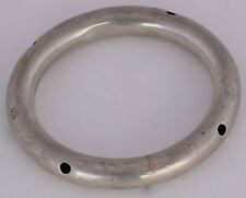 Vintage Heavy Sterling Silver large hoop Bracelet unique unusual made in Mexico